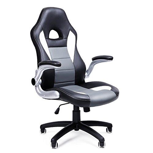 SONGMICS | Bureaustoel | Flexibele hoogte | Inklapbare armleuning | OBG28G