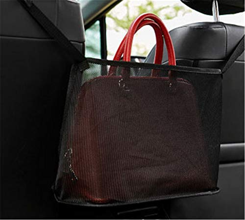 1. The car net pocket tote bag holder completely covers the space between the first two seats, making them extra storage space for you. 2. Using thickened polyester fiber with strong toughness, it can also be used as a special barrier to prevent naughty pets in the back seat from interfering with your daily driving. 3. The carrying bag holder can easily remove the items in the wallet without removing your eyes, which helps to reduce the distraction of driving.