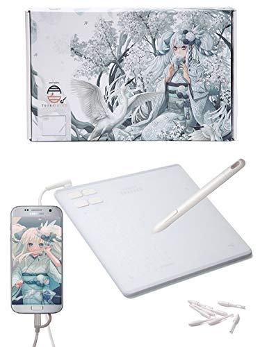 RAYWOOD 筆や写楽 ペンタブレット TSUKISHIRO PC・Android対応 ショートカット4個 ペンタブ 板タブ OTGアダ...