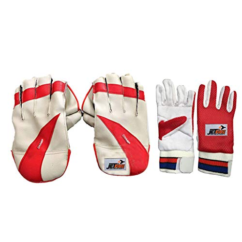 Ibex Champ Wicket Keeping Gloves Combo with Inner Gloves Wicket Keeping Gloves (Multicolor)