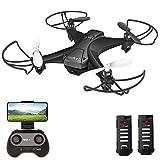 tech rc Mini Drone con HD Telecamera con Due Batterie Funzione di...