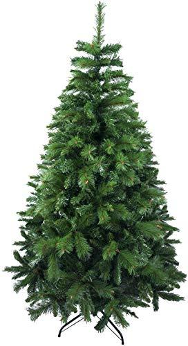 SOLAGUA NAVIDAD - Árbol de Navidad Artificial de Pino Maxi-Relleno Arboles Abeto Doble Hojas C/Soporte Metálico 150-240cm (Verde, 180cm 690Tips)