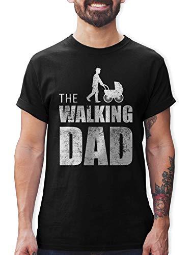Shirtracer The Walking Dad Herren T-Shirt und Männer Tshirt (M, Schwarz)