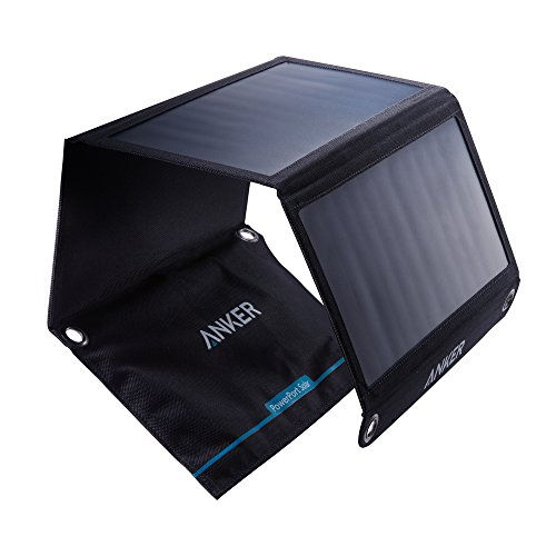 Anker PowerPort Solar - Chargeur Solaire Portable 21W 2 Ports USB pour iPhone X / 8 / 8 Plus / 7 / 7...