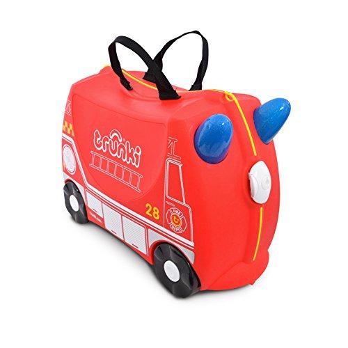 Trunki Valigia Cavalcabile Per Bambini: Il Pompiero Frank (Rosso)