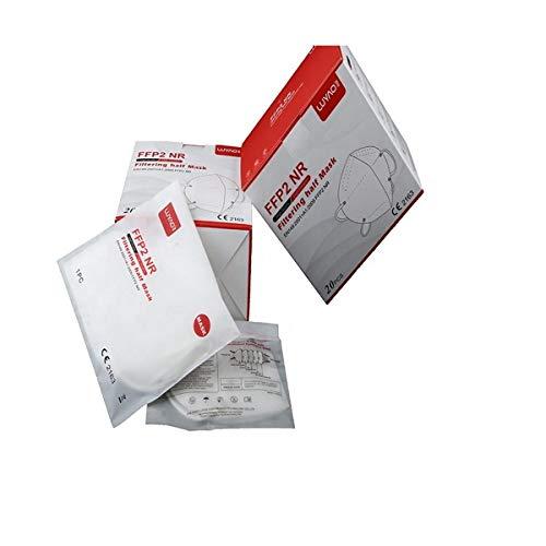 LUYAO, Confezione Da 20 Pezzi, Mascherine FFP2 Certificate CE Senza Valvola Protettive Traspiranti