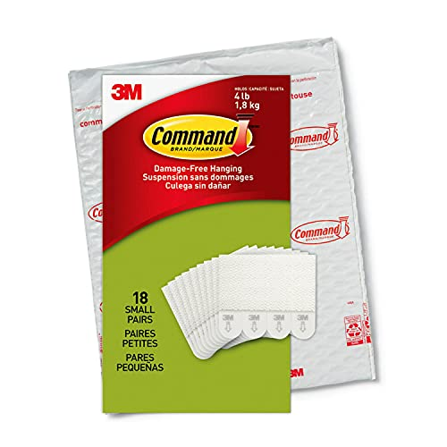 Command Picture Hanging Strips, 18-Pairs (36-Strips), Decorate Damage-Free, Easy to Open Packaging
