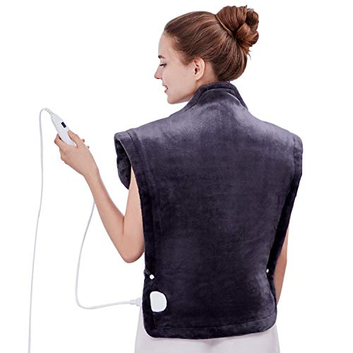 Utaxo Heating Pad Wrap, for Neck Shoulders Whole Back Pain Relief, Soothing Muscle Pain and Tension Relief Therapy, 6 Electric Temperature Options, 25 x 32', XXX-Large