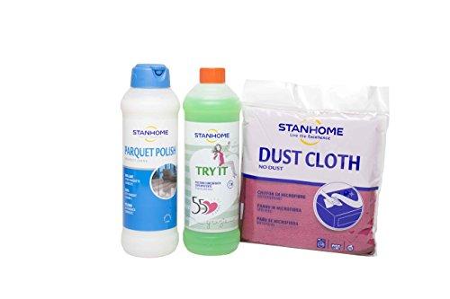 STANHOME Offerta Set - Parquet polish 1litro+ Ty-it 1litro + Panno Dust Cloth OMAGGIO. detersivo per...