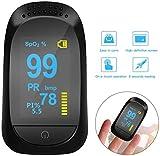 Fingertip Pulse Oximeter, Blood Pulse Oximeter Finger Pulse Blood Oxygen Level Fingertip Monitor for Household LED Display, Easy Check Pulse with Finger