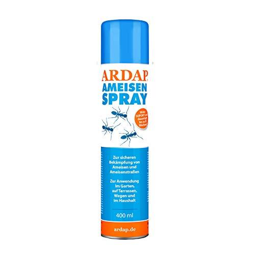 ARDAP Ameisenspray 400ml - Fraß- & Kontaktinsektizid mit Sofort- & Langzeitwirkung zur Bekämpfung von Ameisen, Ameisenstraßen & weiteren Schädlingen