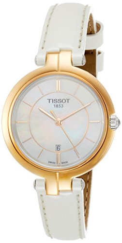 Tissot Damen-Armbanduhr Analog Quarz One Size, Perlmutt, weiß