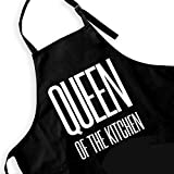 Ihopes Funny Aprons for Women,Queen of The Kitchen, Ms. Apron, Women Birthday Gift,Gifts for Mom,Aprons with Pockets Women Apron for Kitchen Cooking Baking