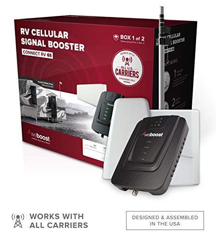 weBoost Connect RV 65 (471203) Cell Phone Signal for Stationary Use Only   U.S. Company   All U.S. Carriers - Verizon, AT&T, T-Mobile, Sprint & More   FCC Approved