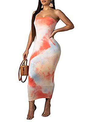 Fashion colorful bandeau backless color block bandage party club maxi midi dress Fabric material: Made of stretchy 71%-80% polyester Perfect for casual and party wear. It could be worn for daily, night club, party, beach and vocation Fine fabrics mad...