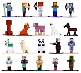 Jada Toys Nano METALFIGS Minecraft 20-Pack Wave 3, 1.65' Die-Cast Collectible Figures 31431