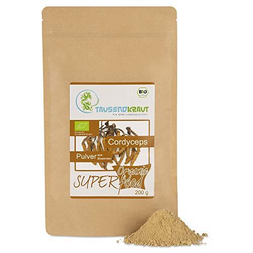 Cordyceps Pulver aus Slowenien - BIO - (200g) Superfood- Vitalpilz [Cordyceps sinensis] Tausendkraut