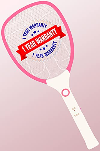 WEIRD WOLF Premium Durable Rechargeable Mosquito Killer Racket Bat with 1 Year Warranty(Robust), Multicolour