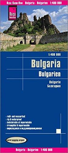 Bulgaria, mapa impermeable de carreteras. Escala 1:400.000 impermeable. Reise Know-How.: world mappi