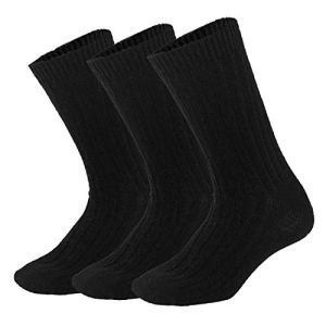 Mens Winter Warm Wool Crew Socks 3/6 Pairs Thick Knit Cozy Thermal Dress for Men