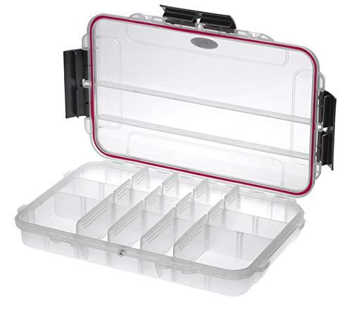 Plastica Panaro Valigetta Pesca MAX003T, per Trasportare, Proteggere e Organizzare l'Attrezzatura, Trasparente, Dimensioni Esterne 350 x 230 x H59 mm