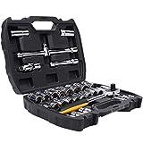 Cajas y maletines 32 piezas de reparación Juego de dados de Cajas de herramientas de coches Juegos de herramientas portátil de gran capacidad de reparación de herramientas cofres multifuncional máquin