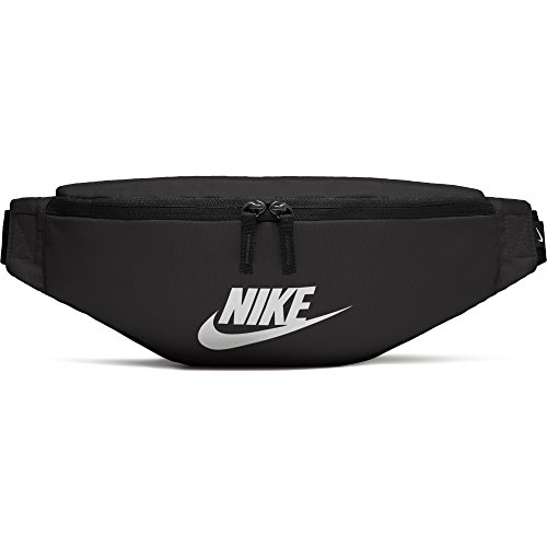Nike Unisex's NK HERITAGE HIP PACK Gym Bag, Black/Black/White, 41 cm