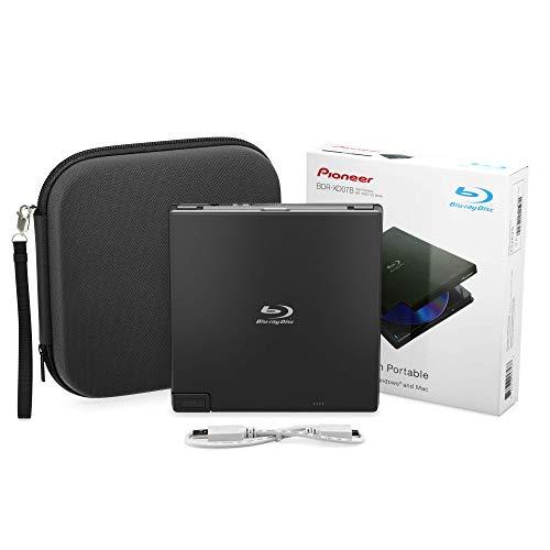 Pioneer BDR-XD05B Blu-Ray Player & Burner - 6X Slim External BDXL, BD, DVD & CD Drive for Windows & Mac w/ 3.0 USB - Write & Read on Laptop & Desktop + CyberLink Media Suite 10 Download Key & Case