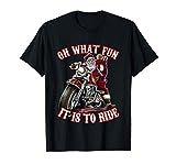 面白いオートバイバイカーおじいちゃんサンタライダークリスマスギフト Tシャツ