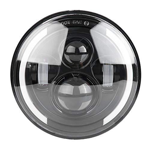 7 Zoll LED Scheinwerfer, 150W runder Halo Angel Eye weißer Scheinwerfer mit Halo Ring für Motorrad