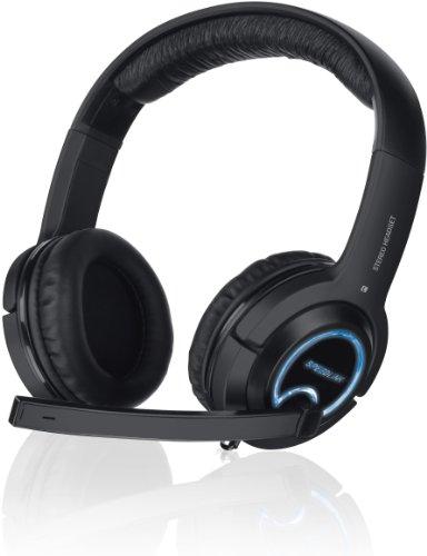 Speedlink Xanthos Gaming Headset - Gamer Kopfhörer für PC / Computer und Konsole - 3m Kabellänge - Stereo-Klang - schwarz