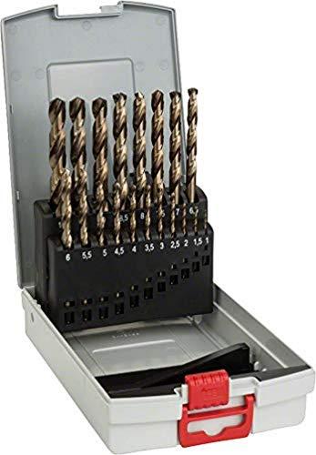 Bosch Professional Set da 19 Pezzi di punte per metallo HSS-Cobalt ProBox, per acciaio inossidabile, accessorio per trapano avvitatore