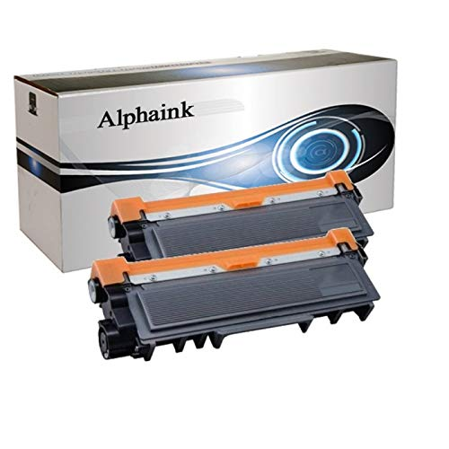 2 Toner Alphaink Compatibile con Brother TN-2420 versione da 3000 copie per stampanti Brother...