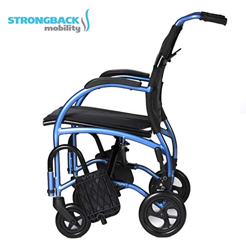 Strongback Mobility- Lightweight- STRONGBACK Excursion 8 Wheelchair- Small 16' Seat,16', 8' Rear Wheels