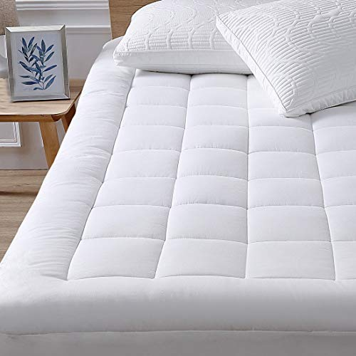 """oaskys Queen Mattress Pad Cover Cooling Mattress Topper Cotton Top Pillow Top with Down Alternative Fill (8-21"""" Fitted Deep Pocket Queen Size)"""