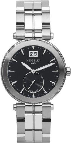 HERBELIN - 18287/14B - Newport Yacht Club - Montres Homme - Quartz - Noir - Bracelet Acier Inoxydable Acier