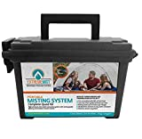 EXTREMEMIST Portable Misting System - 4 Mist Nozzles, Rechargeable Battery, and Wireless Remote   Easy to Setup   16 ft. Mist Line for Outdoor Patios, Golf Carts, Greenhouses, Canopy, Decks & More