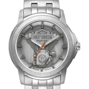 Harley-Davidson Men's Bulova V-Twin Wrist Watch 76A021