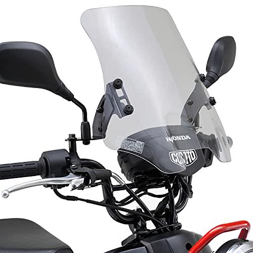 デイトナ バイク用 スクリーン クロスカブ ウインドシールド HCシリーズ ロング クリアー 92384