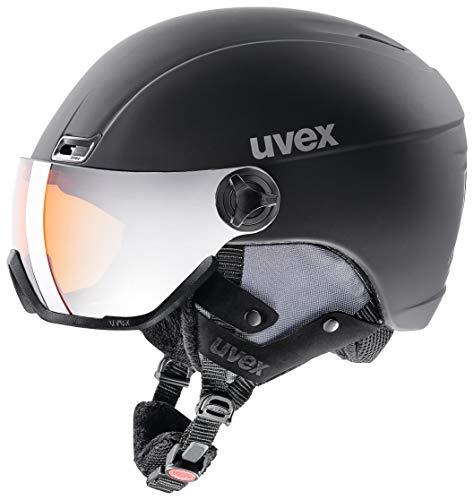 uvex Unisex– Erwachsene, hlmt 400 visor style Skihelm, black, 58-61 cm