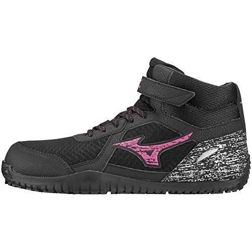 [ミズノ] 安全靴 オールマイティ SD13H 軽量 メッシュ ハイカット JSAA・普通作業用(A種) メンズ ブラック×ピンク×ブラック 27 cm 3E