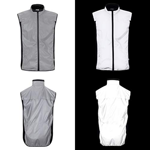 BTR Reflective Running and Cycling High Vis Gilet. High Viz Vest With Two Side Pockets - X-Small (36-38 Inches)