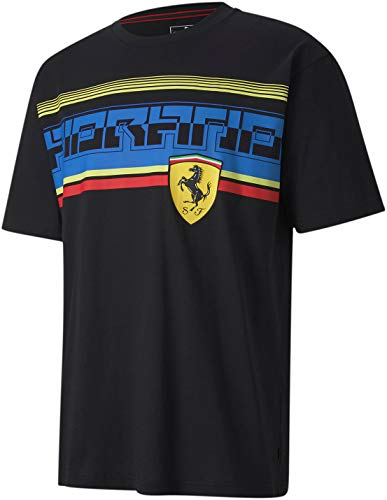 Formula 1 Scuderia Ferrari Mens Scuderia Ferrari Street Tee, Puma Black, S