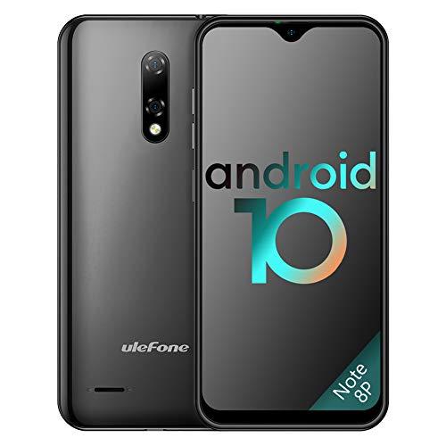 4G Handy ohne Vertrag Günstig, Ulefone Note 8P Smartphones 5,5 Zoll Wassertropfen-Bildschirm 16GB ROM 3 in1 Steckplatz 8MP+2MP+5MP Dreifache Kameras Gesichtserkennung GPS (Schwarz)