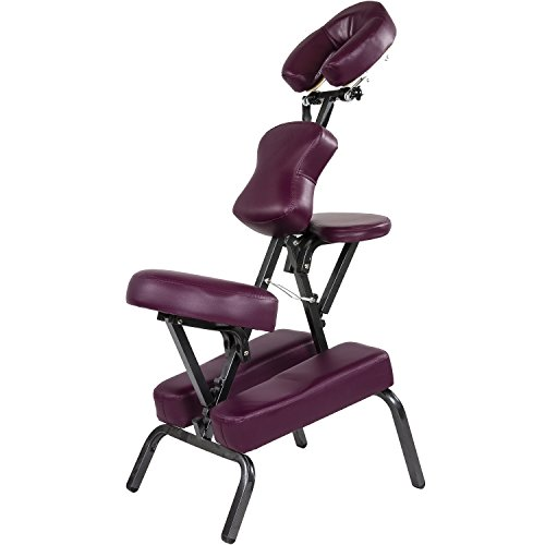 Movit® Faltbarer Massagestuhl/Tattoo Stuhl inkl. Tasche, belastbar bis 200 kg, Farbwahl, schadstoffgeprüft, Farbe Burgund