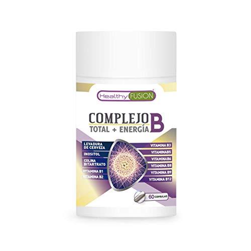 Complejo B | Potente y completo complejo B | Con vitaminas B1, B2, B3, B5, B6, B9 y B12 | Fortalece el sistema inmunológico | Aporta energía extra | Protege el sistema cardiovascular | 60 cápsulas