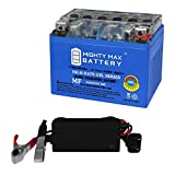 Mighty Max Battery YTX4L-BS Gel Battery for Honda SE50 Elite 50CC 87 + 12V 1AMP Charger Brand Product