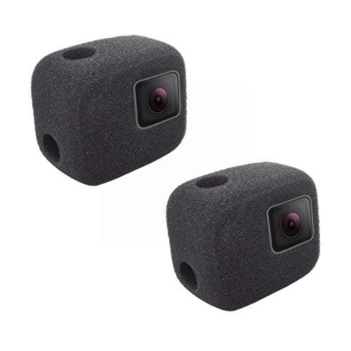Confezione da 2 custodie per parabrezza per Gopro Hero 7 6 5 nero, riducono il rumore del vento per una registrazione audio ottimale.