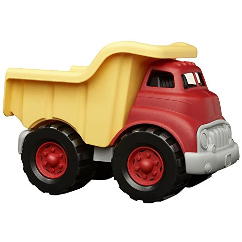 Green Toys Dump Truck in Yellow and Red - BPA Free,...