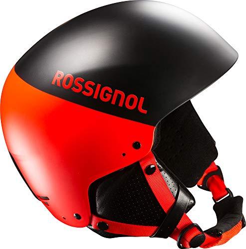Rossignol Herren Hero 8SL Auswirkungen mit Kinnschutz Ski Helm, Herren, HENHELMET45Y065, Black/Hot Red, 60